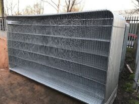 Roundtop heras security fence panels, site fencing
