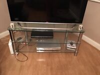 Glass TV stand fits 49inch tv