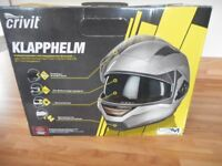 New Crivit flip front motorbike helmet size large