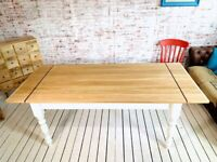 Any Farrow & Ball Colour Extending Kitchen Dining Table Oak AB Grade