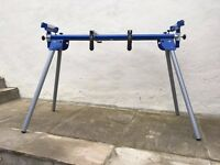 Mitre saw stand and brackets