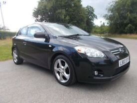 2010 60 KIA PRO-CEED 3 1.6 CRDI 3D DOOR HATCHBACK IN METALLIC BLACK CALL 07791629657