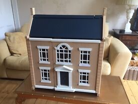 Lovely Wooden Doll's House with lots of Furniture and 4 x figures