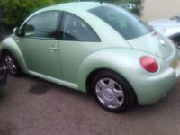 2002 Volkswagen Beetle 2000 cc petrol,service history 12months MOT abs, E/W,A/bags,Alloys