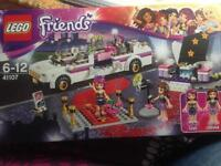 Lego friends pop star run way with car.