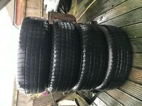 """Range Rover Sport 17"""" Original alloys x 4 (Will fig other models) Almost new Dunlop Tyres"""