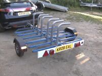 2010 CYCLE TRANSPORTER CAR TRAILER (6 CYCLE CAPACITY) NICE TRAILER..