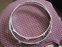"!!RARE FIND!! 60s LUDWIG 14"" 8 LUG DRUM HOOPS x 2( Collection LE27QT)"