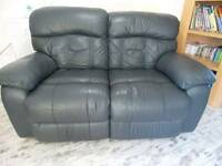 Dark Grey Recliner Leather Sofas 2 And 3 Seaters