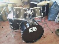DRUM KIT by CB DRUMS (SP SERIES) SHELL PACK ONLY