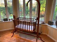 Handmade beautiful wooden crib