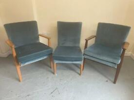 3 various Parker knoll occasional chairs