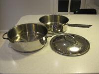 Large steamer pan.