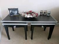 Shabby chic stag tables