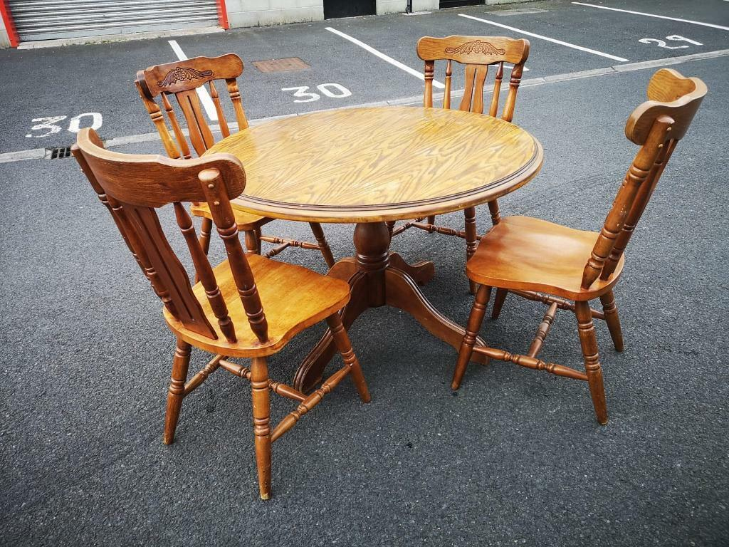 Solid Pine Table & 4 Chairs | in Dunmurry, Belfast | Gumtree