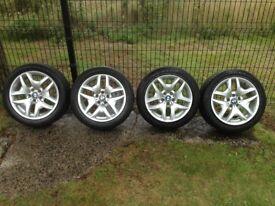"Genuine 18"" BMW M Sport Star Spoke Alloy Wheels with Dunlop Tyres"