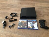 Playstation 4 console with a 1TB HDD + 2 games and NOW TV 2 Month Sky Cinema Pass