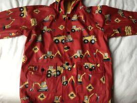 Hatley waterproof jacket -digger design - age 6