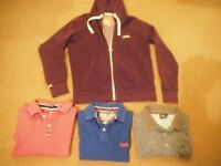 SUPERDRY HOODY & 2 SUPERDRY AND I AMIMAL POLO,S 42 TO 44 CHEST