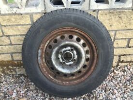 175 x 70R13 Tyre and wheel for sale.