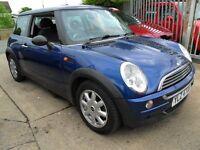 mini parts from a 2003 1,6 mini one car blue