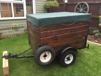 Wooden camping trailer 4ft x 3ft, 32 inc high sides