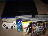 Sony PlayStation 3 12GB Slim Console & 4 games