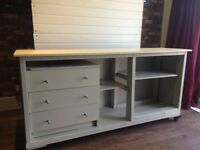 HANDMADE PORTABLE WORK STATION - VGC - CAN DELIVER LOCALLY .,