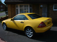 RARE `Sunburst Yellow`SLK 230 Kompressor Convertible 12 Months M.O.T