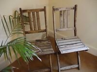 Set of 2 Wooden Garden Chairs