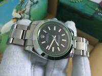 New Swiss Men's Rolex Oyster Milgauss Perpetual Automatic Watch, Black Dial