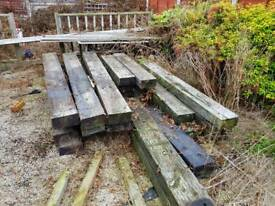 Original railway sleepers 8ft and 4ft