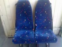 Minibus seats with Seat Belts Clips