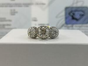#331 14K WOW! Stunning White Gold Diamond Engagement Ring *Size 6 3/4* Appraised at $8550, selling for $2895!!
