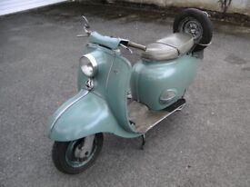 BSA Sunbeam scooter 1959 on the road and in daily use