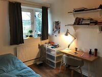 1 spacious double bed available for a short sublet.Property includes living room, kitchen & garden.