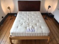Wooden double bed (with mattress optional)