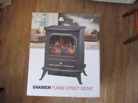 Brand New IGENIX OAKMAN FLAME EFFECT STOVE HEATER IG9430 1850 WATTS