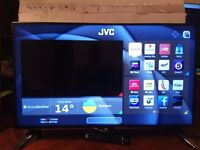 Brand new 40''JVC smart TV 4K ultra HD with remote and stand