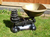 For Sale: Antique/Old Weighing Scales with Weights
