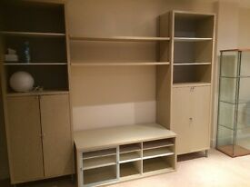 Ikea lockable cupboards / TV unit, light oak