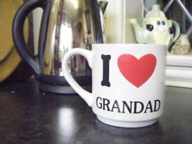 Stoneware Pint mugs, 'I love Grandad', ideal gift for the Old Soul