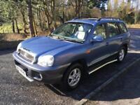 2005 HYUNDAI SANTA FE AUTO CRTS CDX 4WD. MOT TO AUGUST