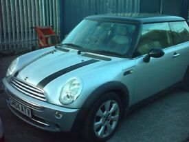 here soon mini cooper , 1.6 , in silver nice car ,£1995