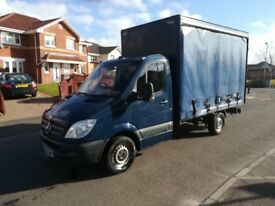 58 MERCEDES SPRINTER CURTAINSIDER LOW MILES £5500 NO V. A. T