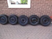 BMW E36 5 WHEELS WITH DUNLOP SP SPORT TYRES 185/65/15 good condition