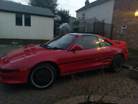 Toyota MR2 GT Turbo low mileage in Red