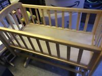 Wooden Gliding Crib