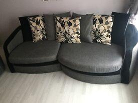 Sofa + swivel chair