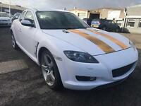 **Project** Customised Mazda RX8 2.6 231 BHP Ps HPI Clear White Wrap Petrol 2004